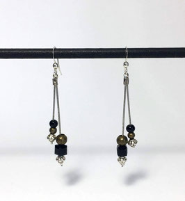 Boucles Serpentines Noir & Bronze