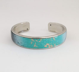 Bracelet Jonc Vert & Gris