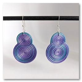 Boucles Spirales Violettes