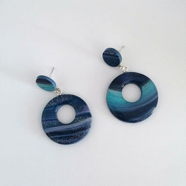 Créoles Donuts Bleu & Mauve