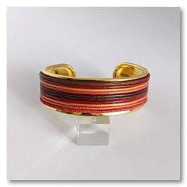 Bracelet Jonc Large Rouge & Or