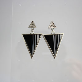 Boucles Triangles Noir & Blanc