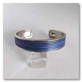 Bracelet Rayures Violet & Bleu