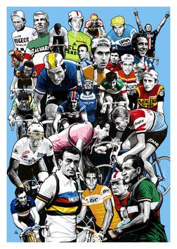 Carte postale Légende du cyclisme