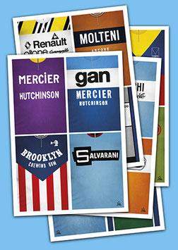 """PACK 4 Cartes postales """"MAILLOTS DE LÉGENDE"""""""