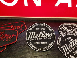 Mellow Motorcycles Patch BLACK&WHITE - gestickt -