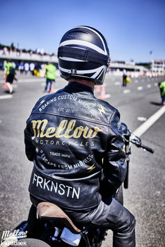 Mellow 'SPRINT RACER' BLACK RIDER Lederjacke - HAND PAINTED