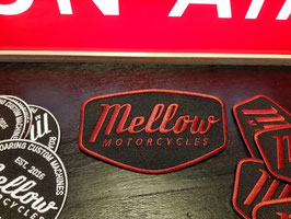 Mellow Motorcycles Patch Red - gestickt -
