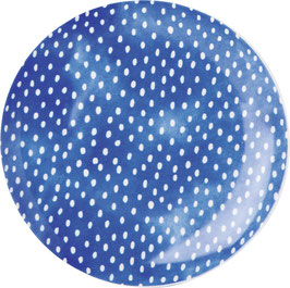 Porzellanteller WHITE DOTS blue