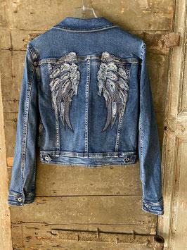 Jeansjacke Flügel