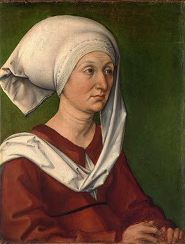 Porträt der Barbara Dürer, geb. Holper, auf Aluminiumverbund