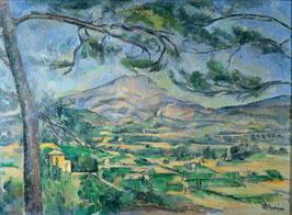 Der Berg Sainte-Victoire mit großer Kiefer, auf Aluminiumverbund