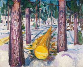 Der gelbe Baumstamm, auf Leinwand