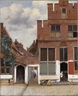 Strasse in Delft, auf Leinwand