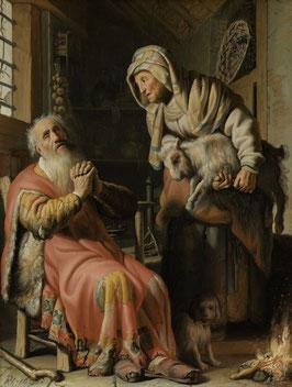 Tobias verdächtigt seine Frau des Diebstahls, auf Leinwand