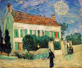 Das weiße Haus bei Nacht, auf Leinwand