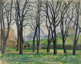 Kastanienbäume in Jas de Bouffan, auf Leinwand