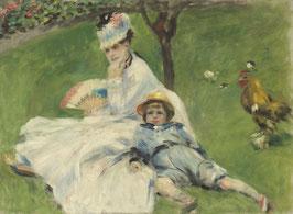 Madame Monet und ihr Sohn, auf Posterpapier