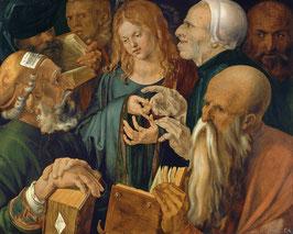 Jesus unter den Schriftgelehrten, auf Aluminiumverbund