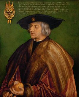 Kaiser Maximilian I., auf Aluminiumverbund