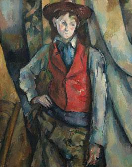 Junge mit roter Weste, auf Leinwand
