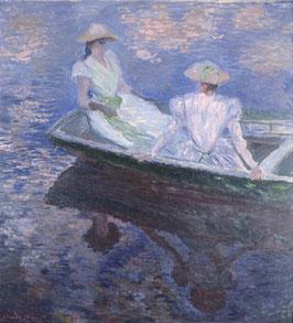 Junge Mädchen in einem Boot, auf Leinwand