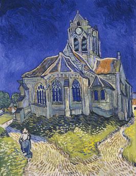Die Kirche von Auvers, auf Posterpapier