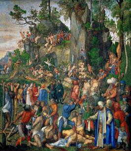 Marter der zehntausend Christen, auf Leinwand