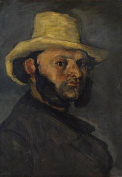 Mann mit dem Strohhut (Porträt von Boyer), auf Aluminiumverbund