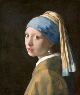 Das Mädchen mit dem Perlenohrgehänge, auf Posterpapier