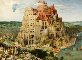 Großer Turmbau zu Babel, auf Leinwand