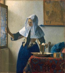 Junge Frau mit Wasserkanne, auf Posterpapier