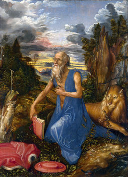 Büßender Hieronymus, auf Posterpapier