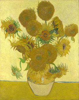 Fünfzehn Sonnenblumen Aug 1888, auf Aluminiumverbund