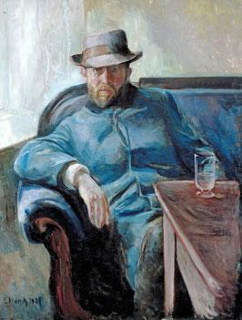 Porträt des Hans Jæger (Jäger), auf Posterpapier