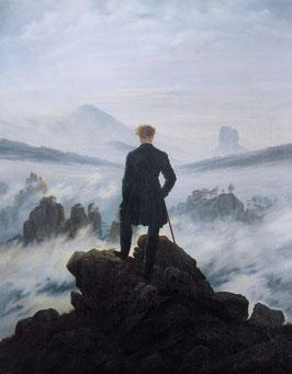Der Wanderer über dem Nebelmeer, auf Posterpapier