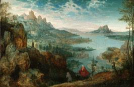Landschaft mit der Flucht nach Ägypten, auf Posterpapier