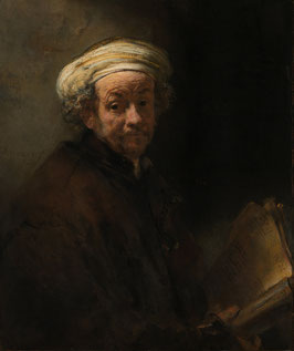 Selbstporträt als Apostel Paulus, auf Aluminiumverbund
