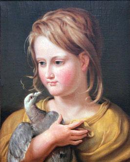 Bildnis Tochter Ernestine, auf Aluminiumverbund