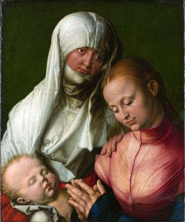Jungfrau und Kind mit der heiligen Anna, auf Posterpapier