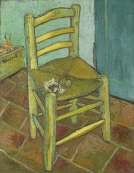 Vincents Stuhl mit Pfeife, auf Leinwand