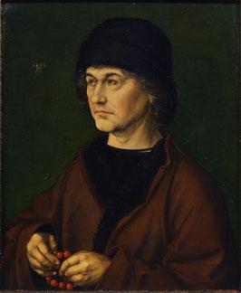 Porträt Albrecht Dürer der Ältere (1490), auf Posterpapier