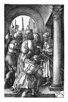 Christus vor Pilatus, auf Aluminiumverbund