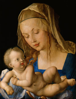 Maria mit der Birnenschnitte, auf Leinwand