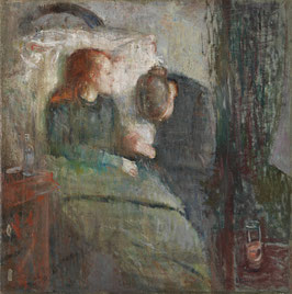 Das kranke Kind 1885-86, auf Leinwand