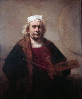 Selbstporträt 1660, auf Posterpapier