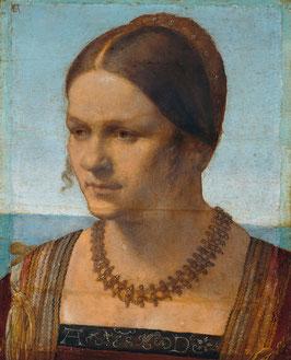 Bildnis einer jungen Venezianerin, auf Aluminiumverbund
