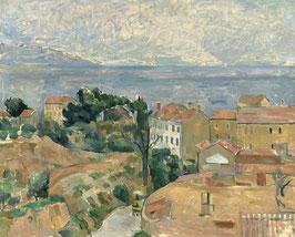 Blick auf L'Estaque, auf Leinwand