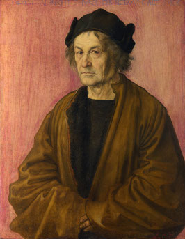 Porträt Albrecht Dürer der Ältere (1497), auf Posterpapier