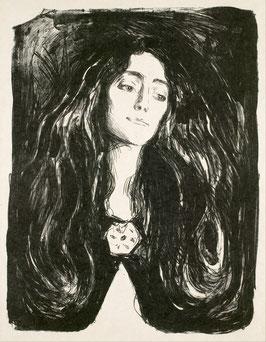 Die Brosche. Eva Mudocci, auf Leinwand
